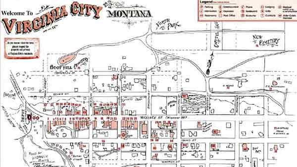 Virginia City Map